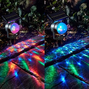 Image 5 - RGB LED Outdoor Garden Solar Lamps Rotary Stage Lamp Fairy Holiday Christmas Party Garland Solar Garden Waterproof Lights