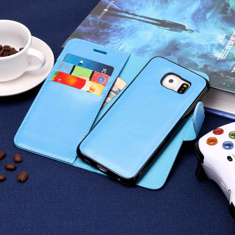 Misolocat for Samsung Galaxy S6 G9200 Flip Case Cover Luxury Leather Wallet Folio Magnet Capa Funda Detachable