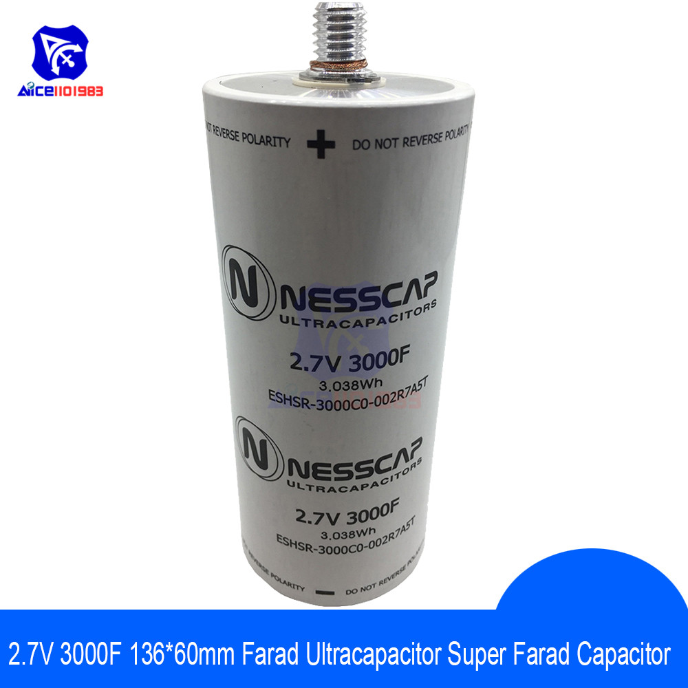 Ultracapacitor 2.7V 3000F 136*60mm Low ESR High Frequency Super Farad Capacitor 2.7V3000F 136x60mm For Car Auto Power Supply