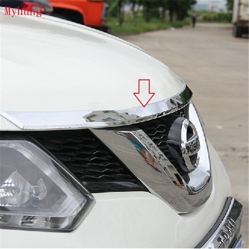 Car Front Grille Trim Car Styling Auto Accessories Abs Chrome 1Pc For Nissan X-Trail Rogue 2014 2015 for mazda 3 axela 2014 2015 2016 abs chrome front grille trim center grill cover around trim car styling accessories 11 pcs set