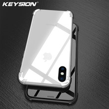 Funda de teléfono KEYSION X 8 para iPhone 7 Plus 6s transparente suave TPU silicona Anti-golpe contraportada para iPhone 8 Plus 6 más 7 6(China)