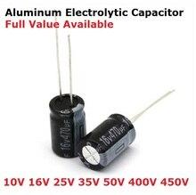 20pcs 1UF 2.2UF 3.3UF 4.7UF 0.47UF 10UF 22UF 33UF 47UF 100UF 220UF 330UF 470UF 50V Aluminum electrolytic capacitor 6/8/9/0/3.3uf