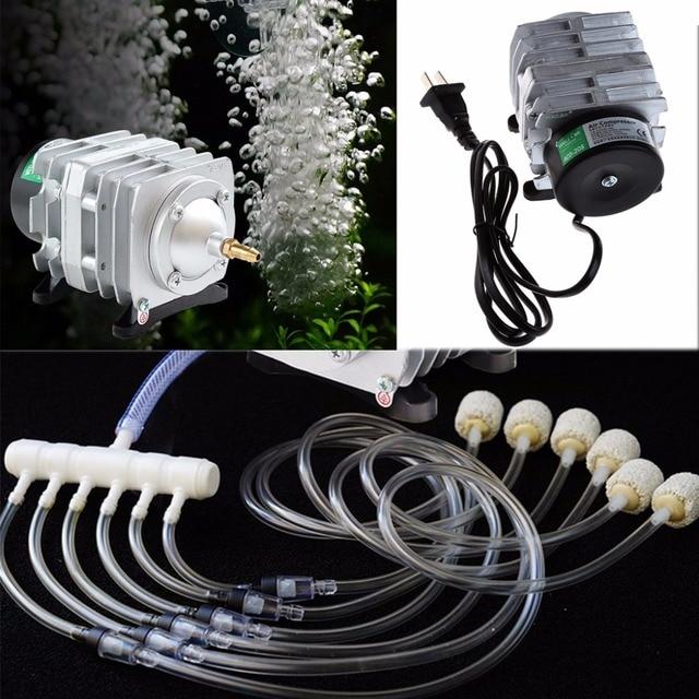 45L/min 25W אלקטרומגנטית מדחס אוויר אקווריום חמצן אוויר בריכת משאבת Aerator