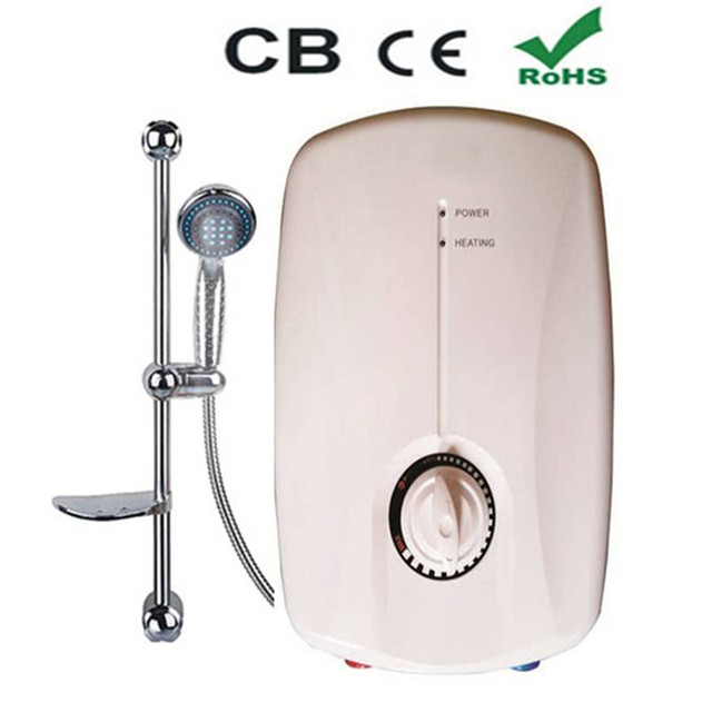 Tankless Water Heater Shower Instantaneous Hot Faucet Mixer Electric  Tankless Instant 5500W Tap Boiler With Multi