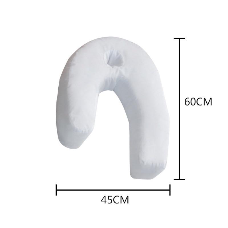 Side Sleeper Pillows Cotton Pillow Neck&Back Hold Pillow Hold Neck Spine Protection Cotton Pillow Health Care