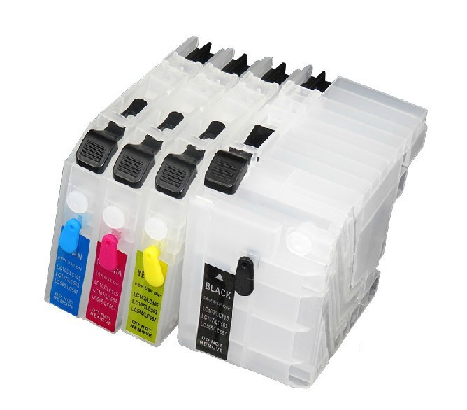 For Brother LC529XL BK C525XL C/M/Y refill ink cartridge For Brother DCP-J100 DCP-J105 MFC-J200 inkjet printer without chip free shipping 6pcs t0851n t0852n t0853n t0854n t0855n t0856n dye ink for epson t60 inkjet printer bk c m y lm lc