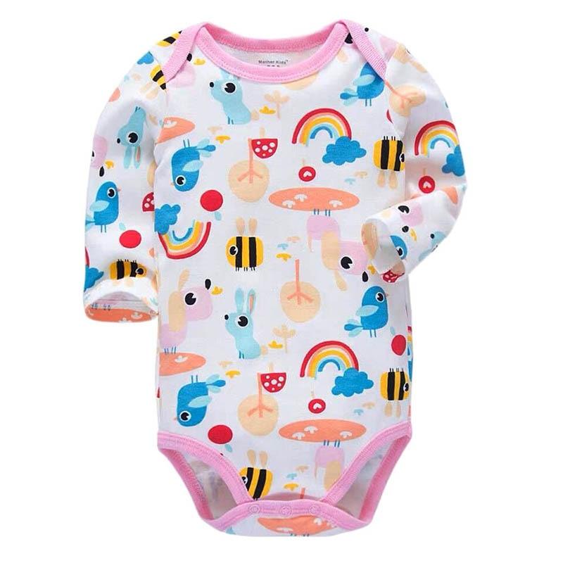 Newborn Bodysuit Baby Clothes Cotton Body Long Sleeve Underwear Infant Boys Girls Clothing Babys Sets