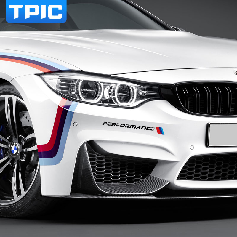 2pc car front sticker front bumper sticker and decals for bmw e90 e46 e39 e60 f30 f10 f34 x3 x4 x5 e70 f15 x6 m3 m5 car styling in car stickers from