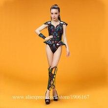 2018 пикантные женские Вечеринка платье Костюмы для бальных танцев костюм Костюмы Хэллоуин этап производительность DS Singer Одежда для танцев на шесте облегающий костюм