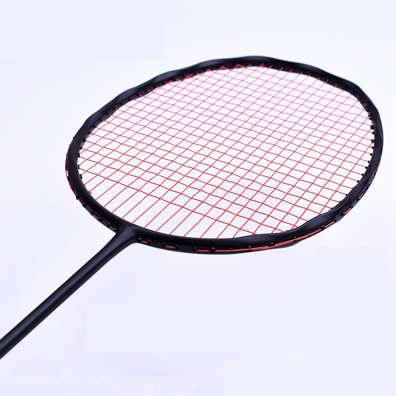 LOKI Curve Shape Speed Smash Carbon Badminton Racket High Tension Offensive Badminton Racquet 75g 22-32LBS