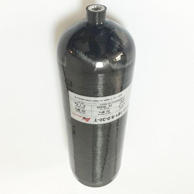 9L 300Bar Compuesto Cilindro de Gas de Fibra de Carbono para Paintball 4500Psi/BUCEO/Equipo Contra Incendios/Industrial Utilizado-Un