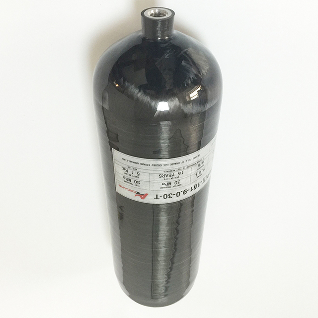 9L 4500Psi 300Bar Composite Carbon Fiber Gas Cylinder for Paintball/SCUBA/Fire Equipment/Industrial Used-A