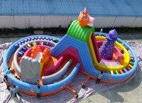 2017 speeltuin house games pomp outdoor commerciële zwembad springen bed grote glijbaan springkussen trampoline kasteel