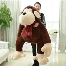 super huge plush monkey toy lovely hugging orangutans doll big monkey pillow gift doll about 150cm