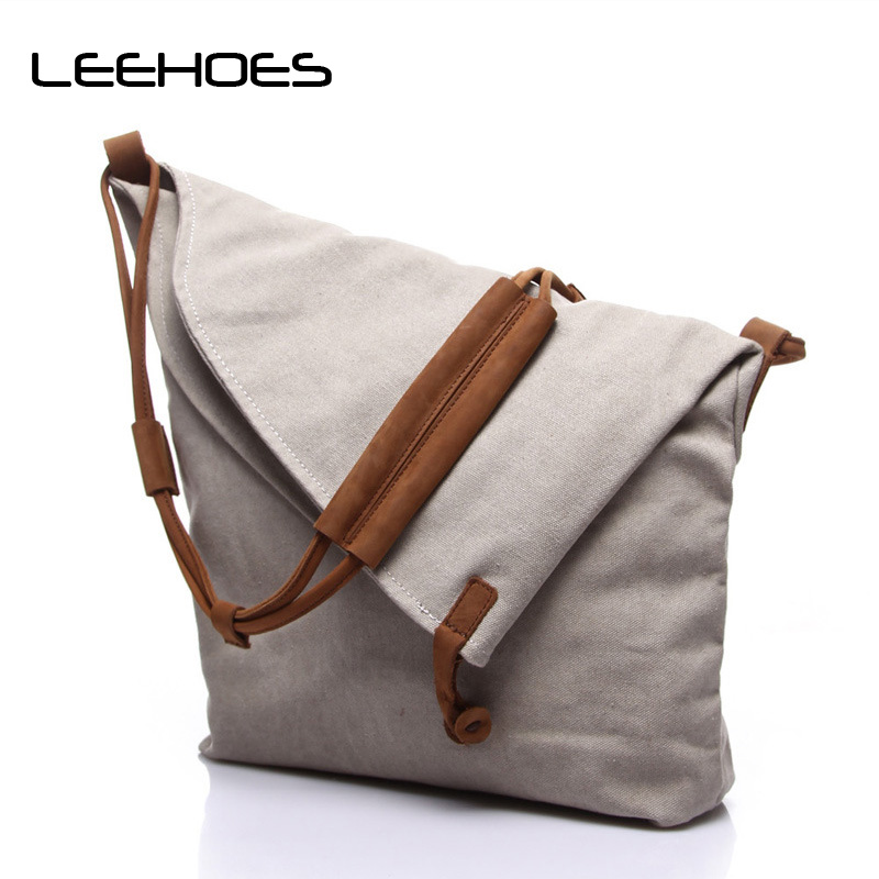 Hot Sale Unisex Multifunction Men Canvas Bag Casual Travel Bolsa Masculina Design Men Messenger Bags High Quality Crossbody Bag