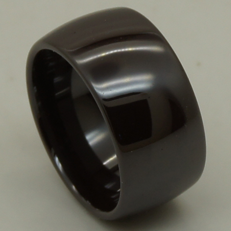 unique & rare brown color 12mm super width simple dome hi tech scratch proof ceramic ring new 1pc