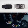 1 Conjunto Porta Do Carro LEVOU Logotipo Projetor laser emblema Para Mercedes Benz R199 R171 R172 SLK CLK W203 W208 W209 W639 Viano SLR C119 W240