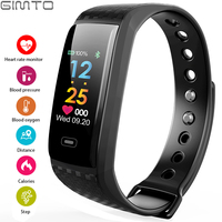 GIMTO Smart Electronics Sport Watch Men LED Heart Rate Blood Pressure Oxygen Pedometer Waterproof Mens Watches