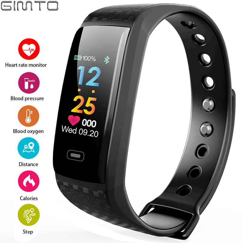 GIMTO Smart Electronics Sport Watch Men LED Heart Rate Blood Pressure Oxygen Pedometer Waterproof Mens Watches Top Brand Luxury fashion smartwatches mens watches top brand luxury smart watch men pedometer heart rate monitor bluetooth digital sports watches