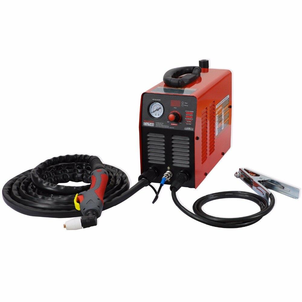 Igbt plasma cortador cut45i 220 v arcsonic herocut ar plasma máquina de corte 10mm corte limpo vídeo
