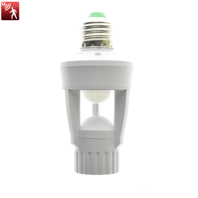 E27 LED 110-220V Screw Light Bulb Holder LED PIR Infrared Motion Sensor Lamp With Switch Socket Identify LED Lamps Infrared Lamp new rf 315 e27 led lamp base bulb holder e27 screw timer switch remote control light lamp bulb holder for smart home