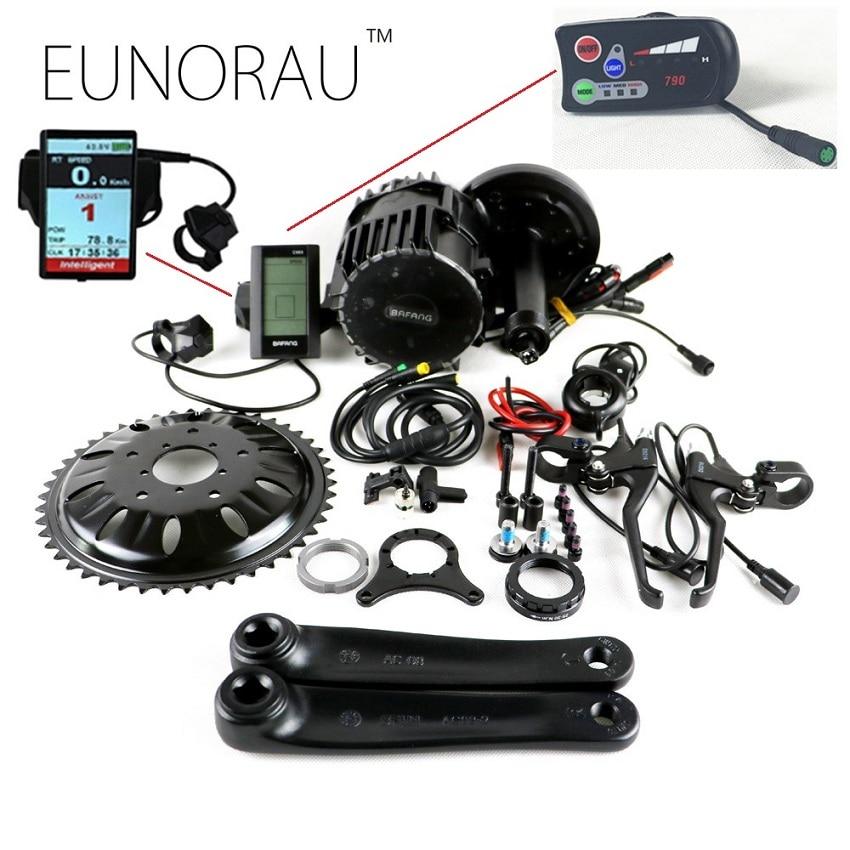 Bafang BBSHD 48 V 1000 W Ebike bicicletta Elettrica Motore 8fun metà auto kit bici elettrica di conversione C965 display con sensore freno
