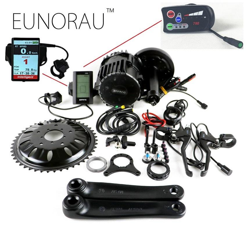 Prix pour Bafang BBSHD 48 V 1000 W Ebike vélo Électrique Moteur 8fun mi entraînement vélo électrique conversion kit C965 affichage avec capteur de frein