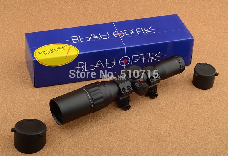 Blauoptik 4x32 Rifle Scope Led Light Hunting Shooting Rbo R9145 legend ultra hd 3 9x40 rifle scope hunting shooting rbo m9896