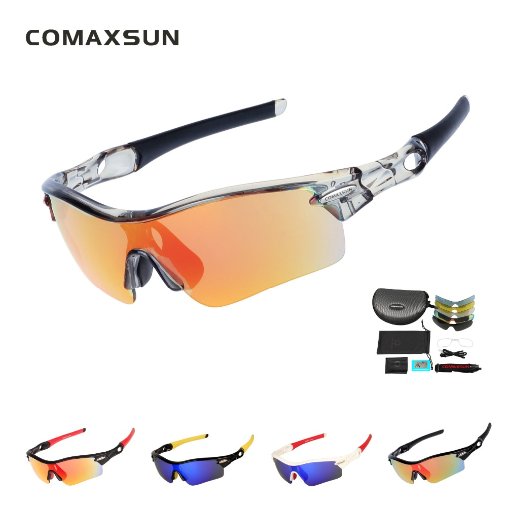 25b7dddced ... COMAXSUN Professional Polarized Cycling Glasses Bike Goggles Sports Bicycle  Sunglasses UV 400 With 5 Lens 5 ...