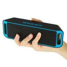 Sc208 subwoofer falante sem fio bluetooth 4.0 caixa de som estéreo alto-falantes TF USB Rádio FM Microfone Embutido Dual Bass Som caixa(China (Mainland))