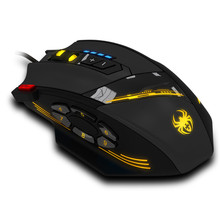 Reliable hotselling gaming mouse Zelotes C-12 Programmable Buttons LED Optical USB Gaming Mouse Mice 4000 DPI  A