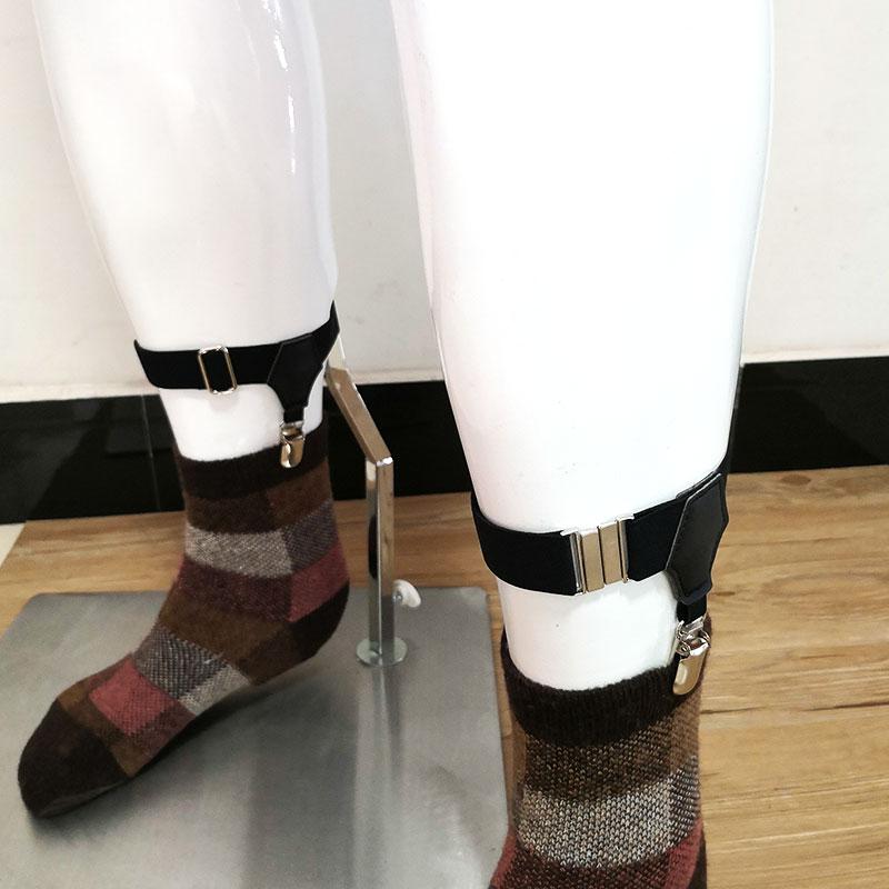 1 Pair Black Mens Adjustable Suspensorio Suspenders Elastic Prevent Socks From Falling Off Sock Garters For Men Accessories