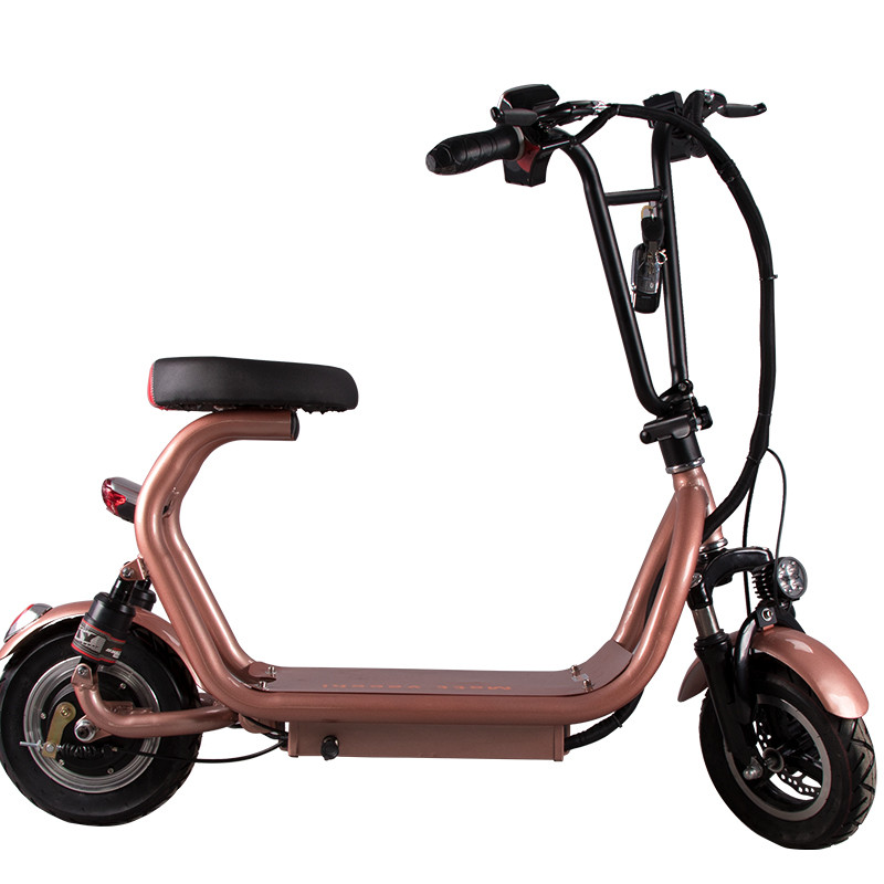 48v10ah Lithium Battery Mini Harley Electric Scooter Colorful Pocket Citycoco 350w One Seat Bike