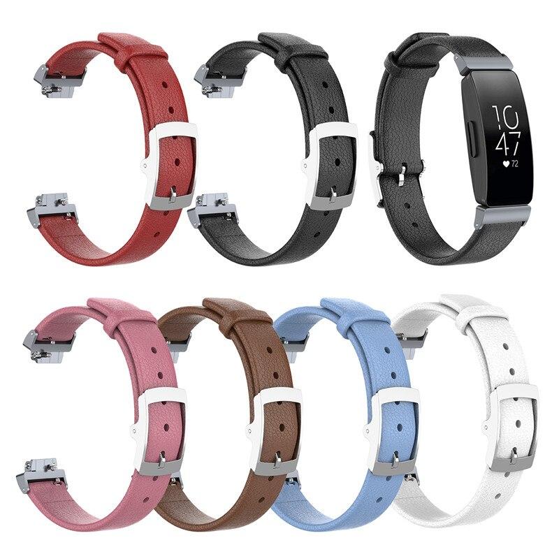 50 stuks Luxe Lederen Bands Vervanging Accessoires Polsband Bandjes Voor Fitbit Inspire/Inspire HR-in Smart accessoires van Consumentenelektronica op  Groep 1