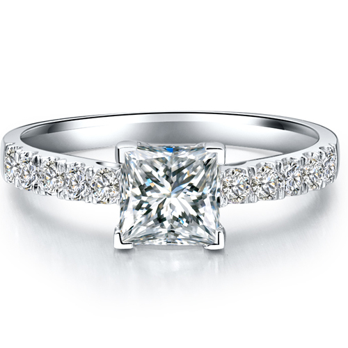 Princess Cut 1 5 Carat 925 Sterling Silver Princess Cut Diamond Promise ring