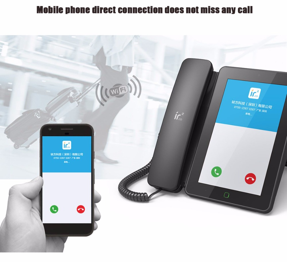 Andrews Smart Network Video Fixed Telephone With Call ID SMS WIFI Recording  Address Book Blacklist For Home Office Bussiness