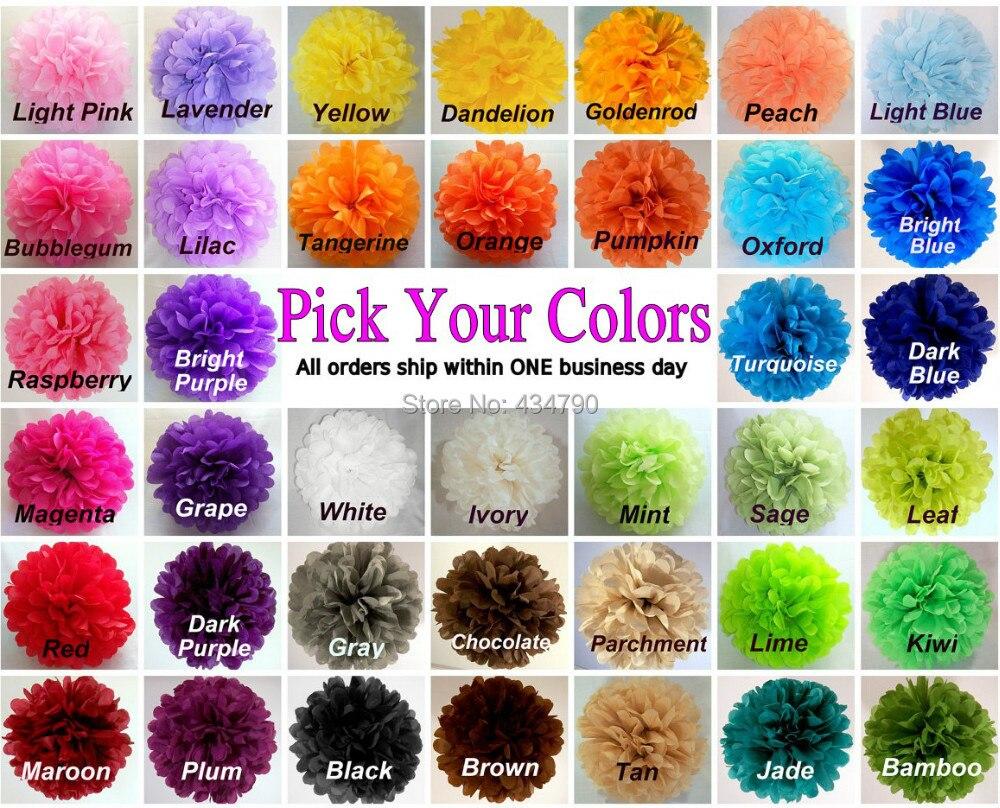 50pcs 14 35cm pick your colors green white blue pink purple black red