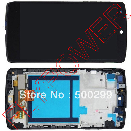 for LG Nexus 5 D820 D821 LCD Display with Touch Screen Digitizer with Frame Assembly Black Color by  free shipping black lcd screen display with touch digitizer frame assembly for lg google nexus 5 d820 d821 free tools and free shipping