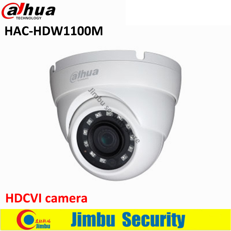 Original Dahua Dome HDCVI camera 1 MP High Defiantion Night Vision IR30M IP67 CCTV Camera security camera DH-HAC-HDW1100M