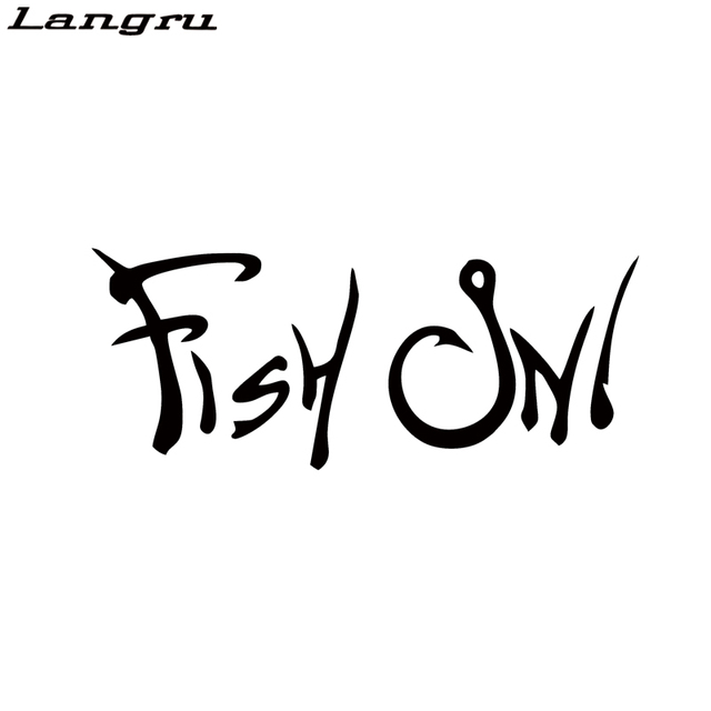 Langru Car Stying Fish On Sticker Vinyl Decal Truck Window Boat Kayak Fishing Hunting Sports