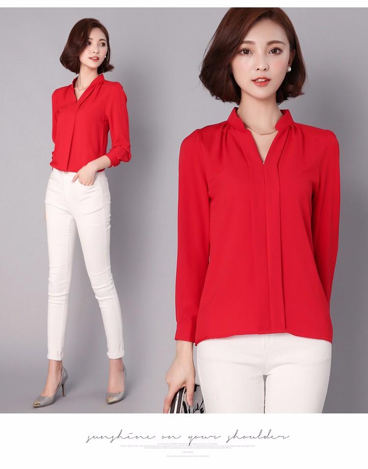 HTB1inqhLpXXXXafXXXXq6xXFXXXk - Long Sleeve Elegant Ladies Office Shirts Fashion Casual Slim Women