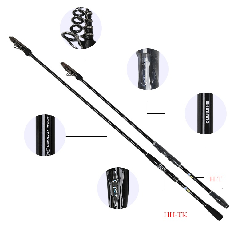 US $382 5 15% OFF|SHIMANO Fishing rods BORDERLESS Rock fishing rod  3 8/4 2/4 6M carbon sea fishing rod fishing gear-in Fishing Rods from  Sports &