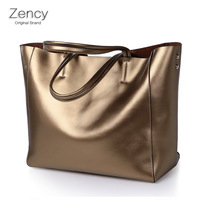 ZENCY Famous Brand Women Tote Shopping Bags Female Genuine Leather Bags Woman Second Layer Cow Leather