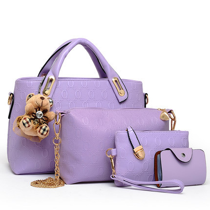 ФОТО Perfect# 2016 new handbag fashion color embossed picture four piece suit Crossbody bag ladies European style FREE SHIPPING