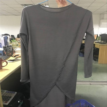 2018 New Stylish Spring Autumn Women Long Sleeve Asymmetric Hem Dress Ladies Knee Dress Jumper Pullover Tops Sundress Clothes