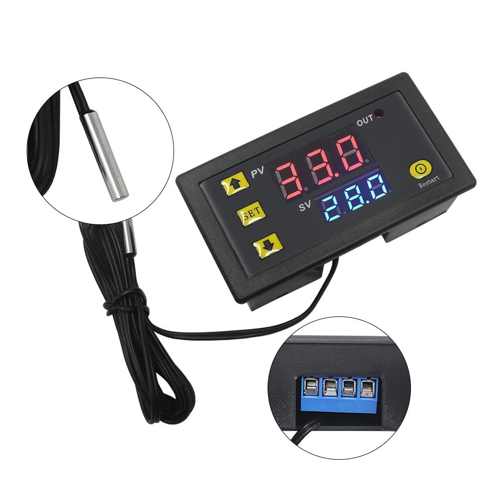 HTB1inr9mljTBKNjSZFNq6ysFXXay W3230 DC 12V 24V 110V-220V AC Digital Temperature Controller LED Display Thermostat With Heating/Cooling Control Instrument