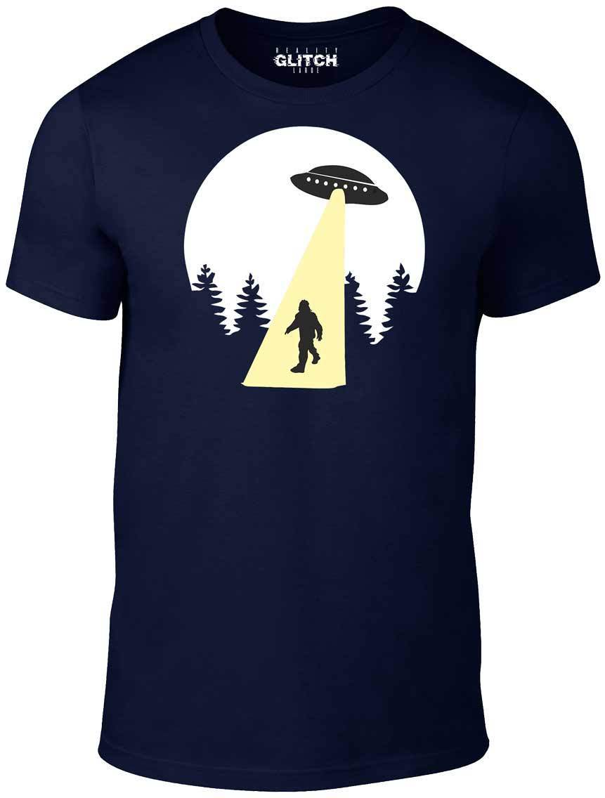 Beam Up T Shirt Funny T Shirt UFO Aliens retro cool space bigfoot USNew T Shirts Funny Tops Tee New Unisex Funny High in T Shirts from Men 39 s Clothing
