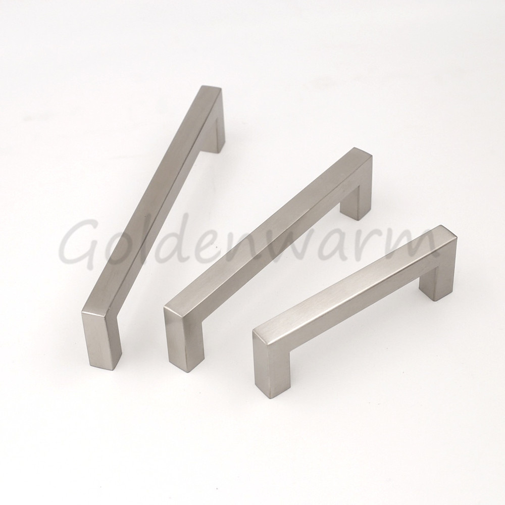 perfect brushed nickel cabinet handles drawer pulls goldenwarm lsjbss inch inch kitchen square tube with brushed nickel cabinet pulls