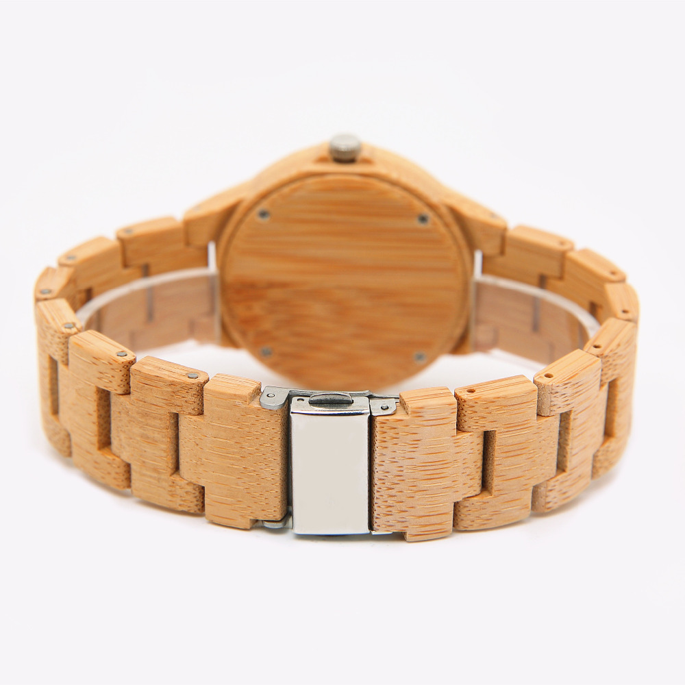 06 Kvinder Ur Luksus Dameure ure Wood Watch Analog Quartz Light - Dameure - Foto 3
