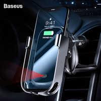 Baseus 10W Auto Qi Drahtlose Ladegerät Für iPhone XS Max Samsung Xiaomi Auto Telefon Halter Intelligente Infrarot Schnelle Drahtlose lade